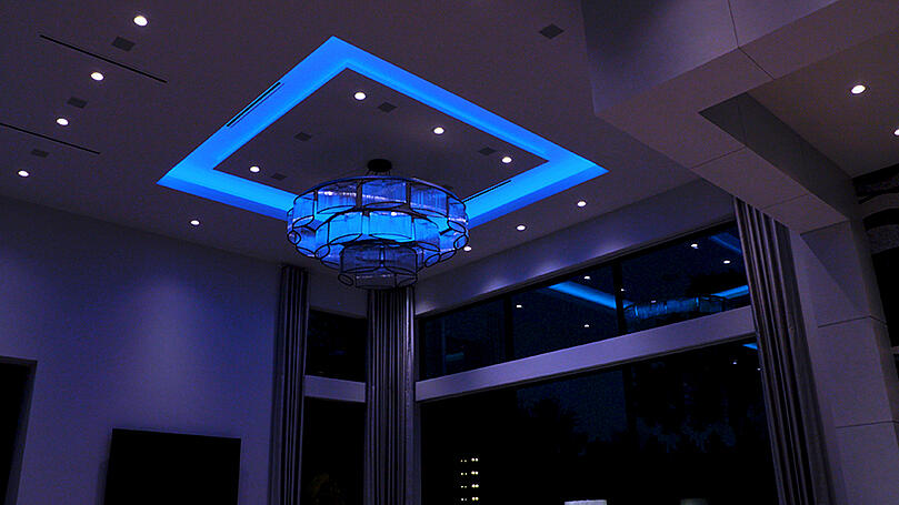 Colorbeam blue ceiling